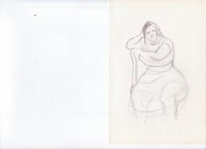 Moeke, potloodtekening van Aaltje Kolman