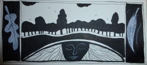 Anne Vellinga pentekening bomen