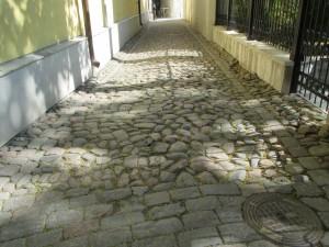 bestrating oude centrum Tallin, hoofdstad van Estland