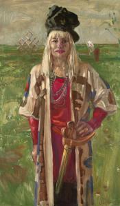 Grazyna Przybyl - portret van Van der Vegt