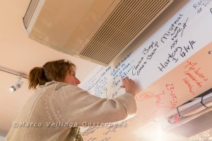 Anne Vellinga op The Wall of Fame in DNB