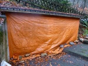 dag houthok vol hout voor de herfst en de winter