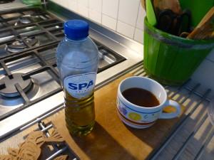 olijfolie en berghoning