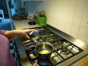 olijfolie verwarmen