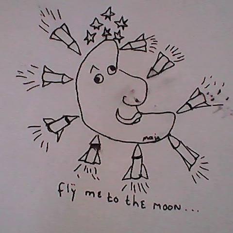 Flij me to the moon Maja Colijn
