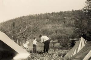 wassen bij de tent - Ardennen
