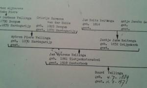 stamboom familie Vellinga