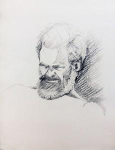 mijn vader schets Ali Kolman (mijn moeder)