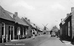 Westkapelle Koudorpstraat waar ik voor het eerst op de fiets zat