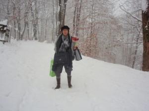 ons pad in de winter