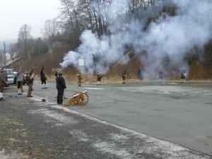 begroeting van het nieuwe jaar in ons dorp