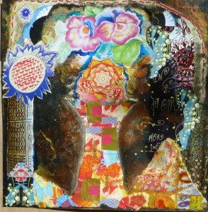 levensboom - mixed media Anne Vellinga