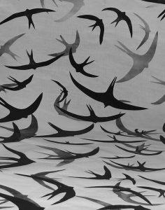 Elsbeth Cochius gierzwaluwen, lino