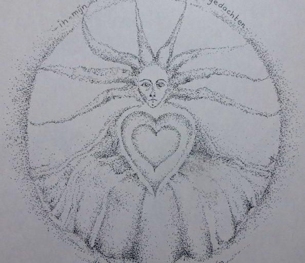 Anne Vellinga ~ pentekening 'uit de kast'